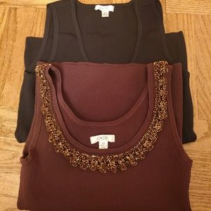 Cache Tops - Lot of 4 Excellent Women's Cache Knit tops Size XS